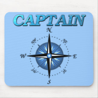 Captain And Compass Rose Mouse Mat