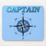 Captain And Compass Rose Mouse Pads