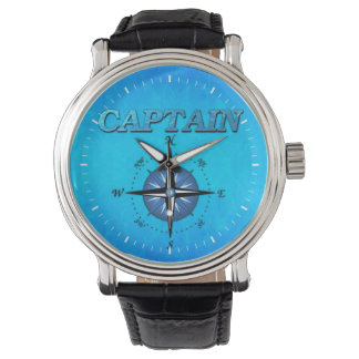 Captain And Compass Rose Wrist Watch