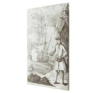 Captain Avery capturing Canvas Print