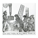 Captain Avery receiving three chests of Treasure Stretched Canvas Prints