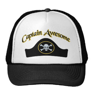 Captain Awesome Trucker Hats