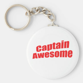 Captain Awesome Key Ring