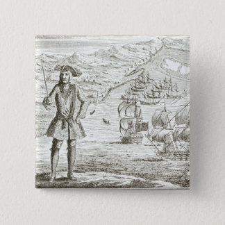 Captain Bartholomew Roberts (1682-1722) with two s 15 Cm Square Badge