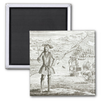 Captain Bartholomew Roberts (1682-1722) with two s Magnet
