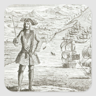 Captain Bartholomew Roberts (1682-1722) with two s Stickers