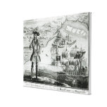 Captain Bartholomew Roberts  with two ships Canvas Prints