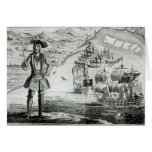Captain Bartholomew Roberts  with two ships Greeting Card