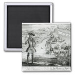 Captain Bartholomew Roberts  with two ships Square Magnet