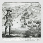 Captain Bartholomew Roberts  with two ships Square Sticker