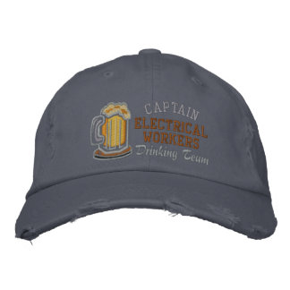 Captain Beer Drinking Team  Custom Embroidered Cap