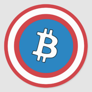 Captain Bitcoin Sticker
