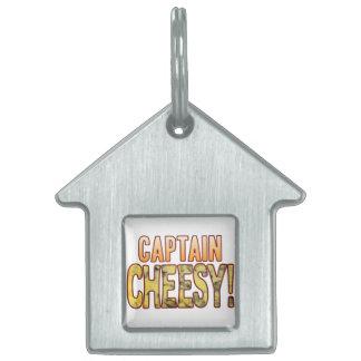 Captain Blue Cheesy Pet Tag