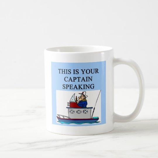 captain boating sailing joke coffee mug