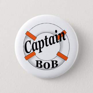 captain bob 6 cm round badge
