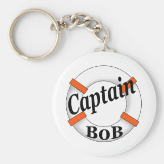 captain bob basic round button key ring
