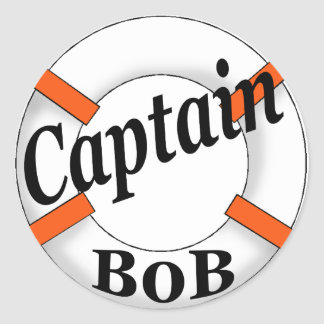 captain bob classic round sticker