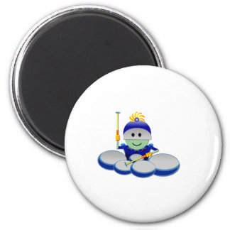 Captain Bok the Quads Space Guy From Outer Space 6 Cm Round Magnet
