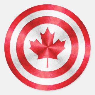 Captain Canada Hero Shield Sticker
