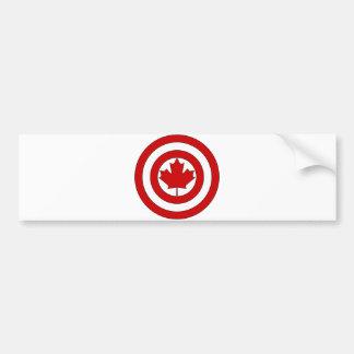 Captain Canada Shield Symbol Bumper Sticker
