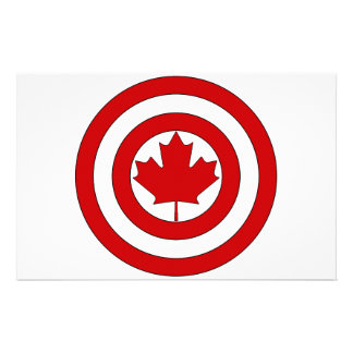 Captain Canada Shield Symbol Personalised Stationery