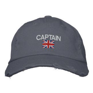 Captain - Captain Logo Union Jack Sailing Embroidered Baseball Caps