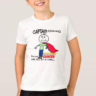 Captain Chemo Childhood Cancer Support T-Shirt