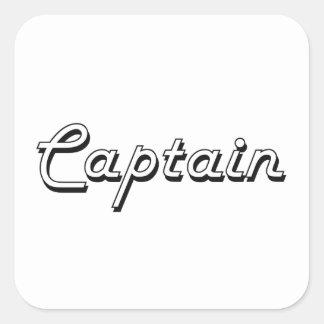 Captain Classic Job Design Square Sticker
