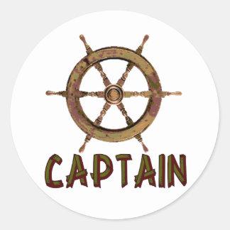 Captain Classic Round Sticker
