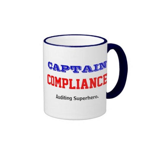 Captain Compliance Auditing Superhero Coffee Mug