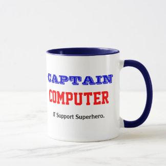 Captain Computer IT Support Superhero Joke Mug
