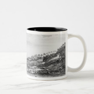 Captain Cook having been shipwrecked Two-Tone Coffee Mug