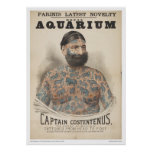 Captain Costentenus: Tattooed from Head to Foot Poster