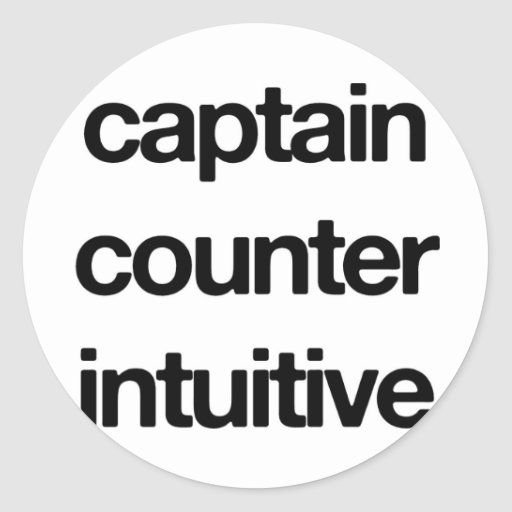 Captain Counter Intuitive Round Stickers