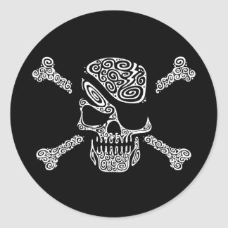 Captain Curly Classic Round Sticker