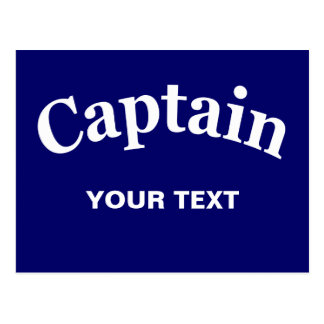 CAPTAIN - CUSTOMIZABLE POSTCARD