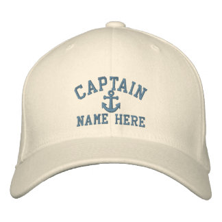 Captain - customizable (side text) embroidered hat