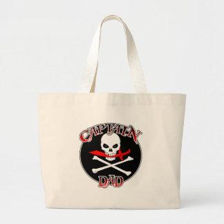Captain Dad (Cutlass) Jumbo Tote Bag