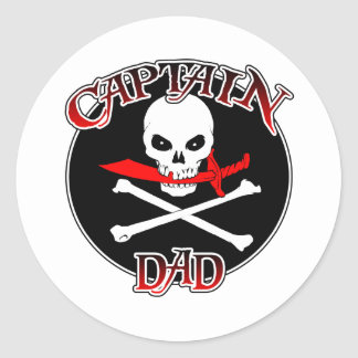 Captain Dad (Cutlass)Sticker Classic Round Sticker