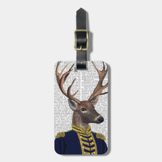 Captain Deer Luggage Tag