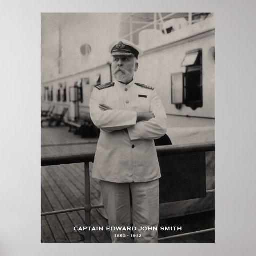 Captain Edward John Smith of Titanic Memorial Poster