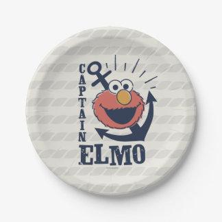 Captain Elmo Paper Plate