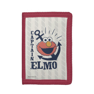 Captain Elmo Tri-fold Wallets