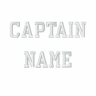 Captain Embroidered Zip Hoodie