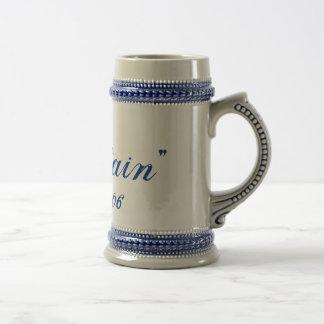 """""""Captain"""", est. 2006 Beer Mug"""