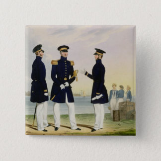 Captain, Flag Officer and Commander (Undress) plat 15 Cm Square Badge