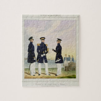 Captain, Flag Officer and Commander (Undress) plat Jigsaw Puzzle