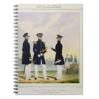 Captain, Flag Officer and Commander (Undress) plat Spiral Notebook