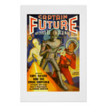 Captain Future pulp cover poster