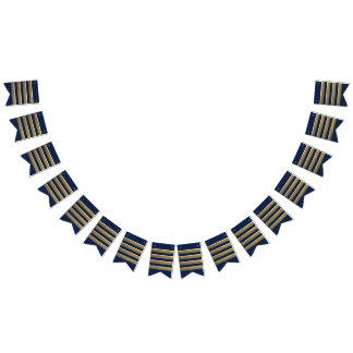 Captain gold stripes bunting